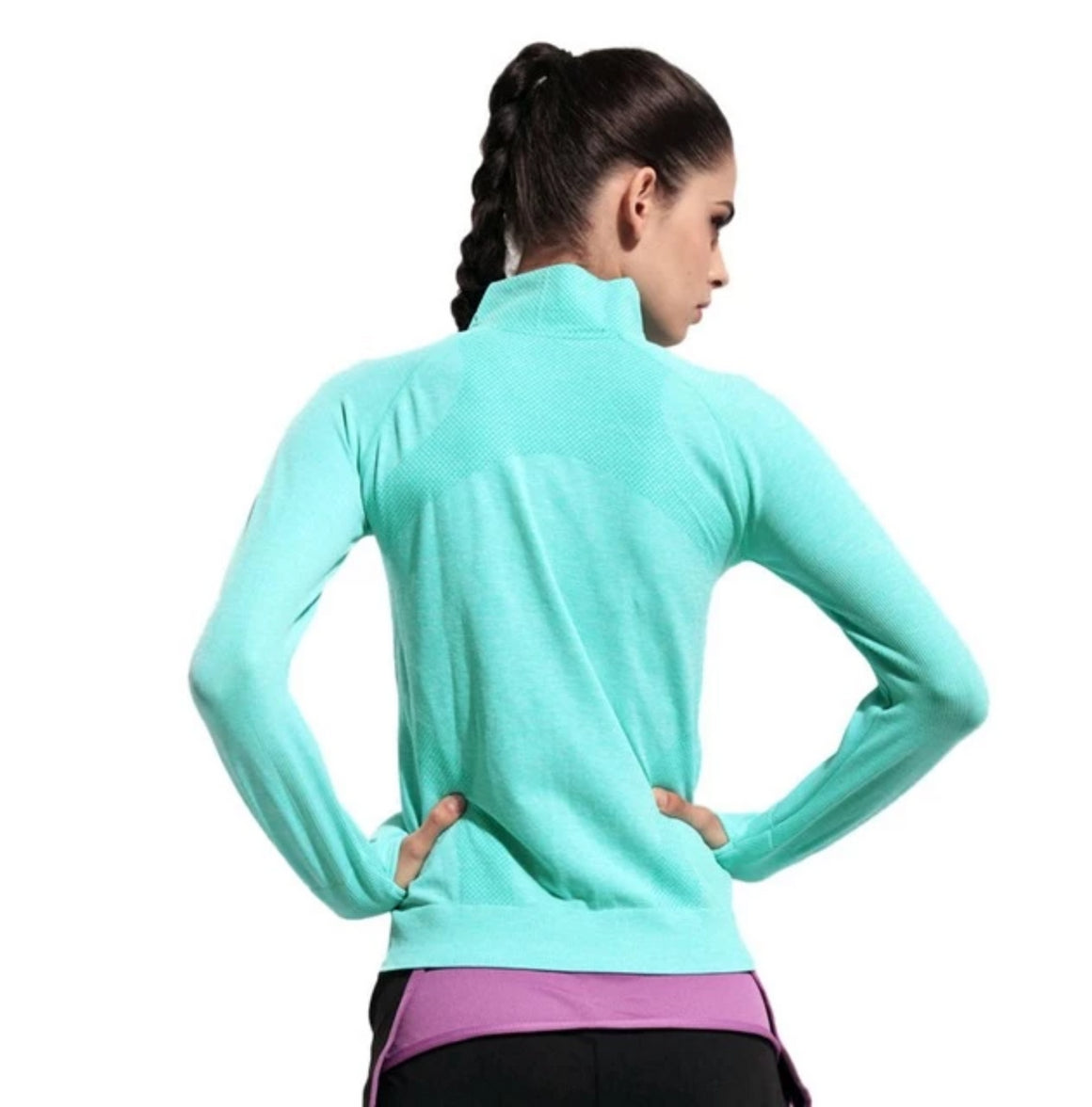 B.BANG Women Quick Dry Sport Jackets Long-sleeved Sweatshirt for Woman Clothes for Running Fitness Sport Zipper Fleece Outerwear