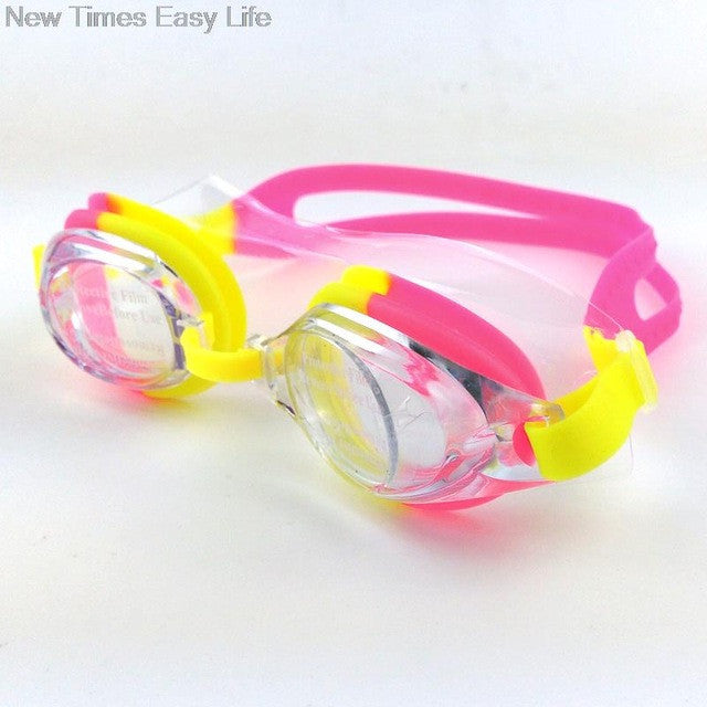 Colorful Adjustable Children Kids Waterproof Silicone Anti Fog UV Shield Swimming Glasses Goggles Eyewear Eyeglasses with Box