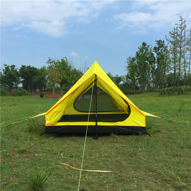 1.6kg Outdoor camping single layer tents without rods portable Oxford cloth folding tents ultra - light outdoor equipment