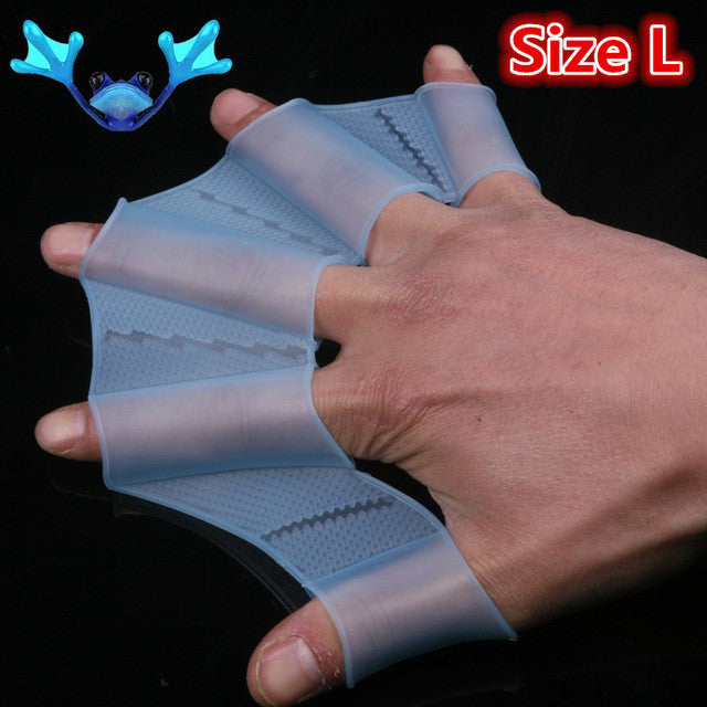 Webbed Gloves Flippers Silicone Material Palm Swimming Fins for Hands_sailor Diving Webbed Palm Flying Fish for Adult Children