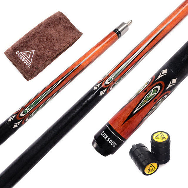 Special Price Billiard Cue 58 inch Canadian Maple Wood 1/2 Jointed Pool Cue Stick with 13mm Cue Tips