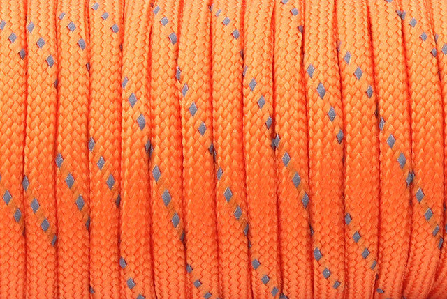 12 Colors Reflective Paracord 550lb 7 Strand 25 feet Survival 7strand PARACHUTE