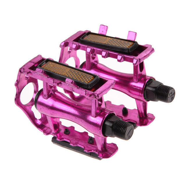 "1 Pair Ultra-light Bicycle Pedals MTB BMX Aluminium Alloy Mountain Bike Pedal 9/16"" Thread Flat Platforms Pedals"