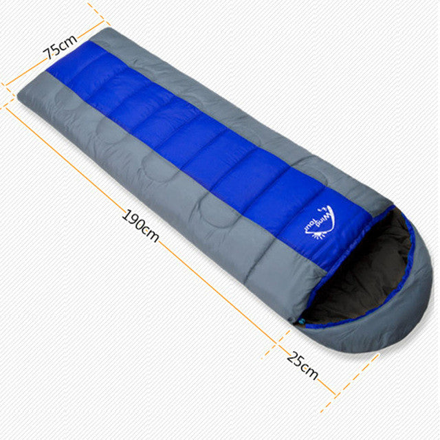Wind Tour Outdoor Camping Thermal Sleeping Bag Winter Envelope Hooded Sleeping Bags Travel Thick Sleep Bag Saco De Dormir