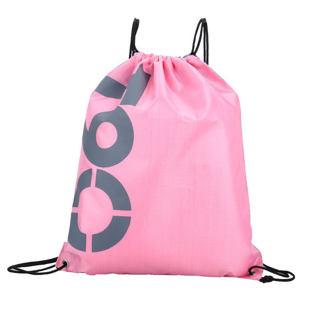 8 pattern Drawstring Sport Bag Double Layer Drawstring Waterproof Polyester Backpacks Shoulder Bag Travel Swimming Gym Bags