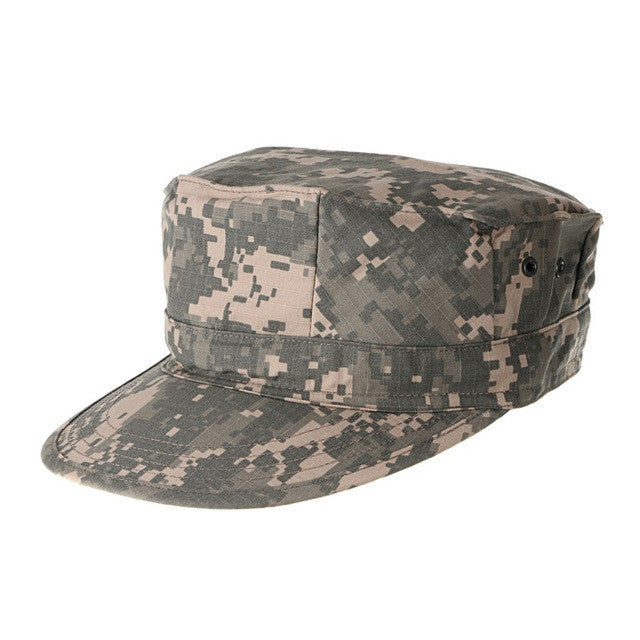 Military Camouflage Octagon Hat Army Ranger RipStop Soldier Cap Multifunctional Fishing Sun Protection Caps Hats