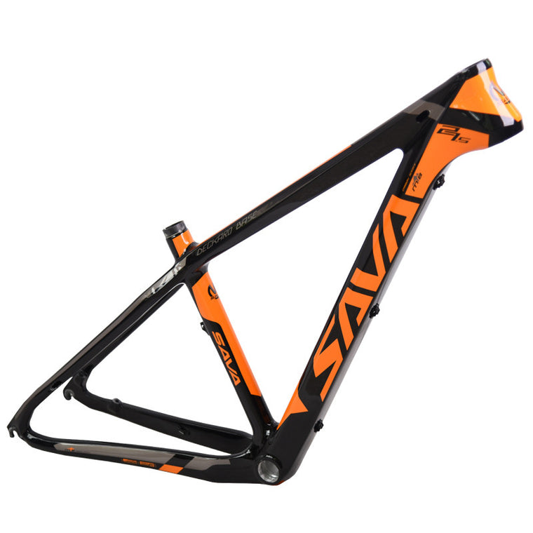 "SAVA MTB Bike T800 29er/27.5er/26er Carbon Frame 650B Carbon Mountain Bicycle Frame with COMPACT Size 15/17"" with Tail Hook"