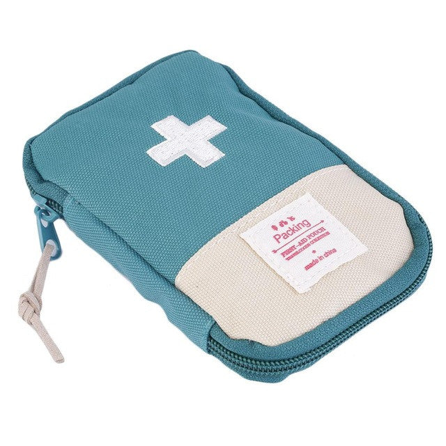 New 14.5*9.5cm Outdoor Camping Home Survival Portable First Aid Kit bag Case free shipping