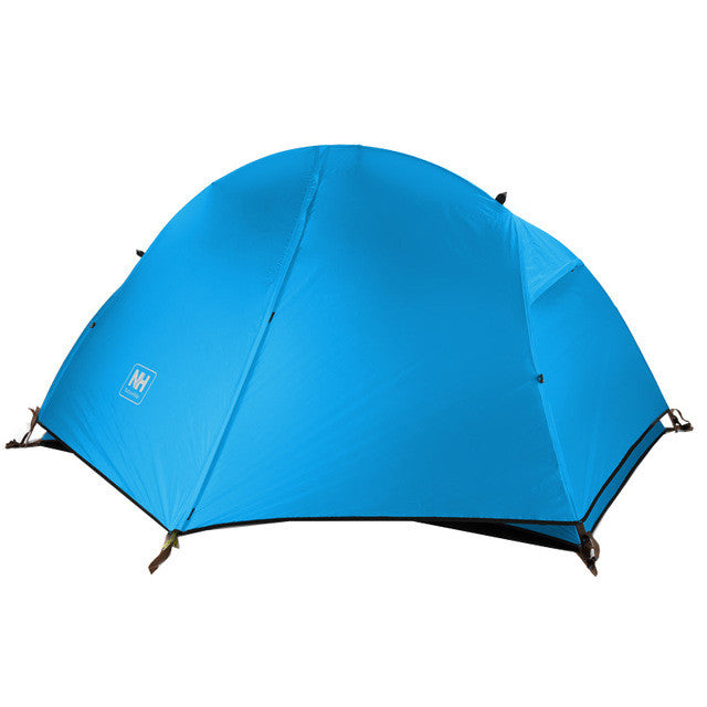 NatureHike Ultralight 1 Person Tent Outdoor 3 Seasons Waterproof Tent Camping Tent with Skirt NH18A095-D