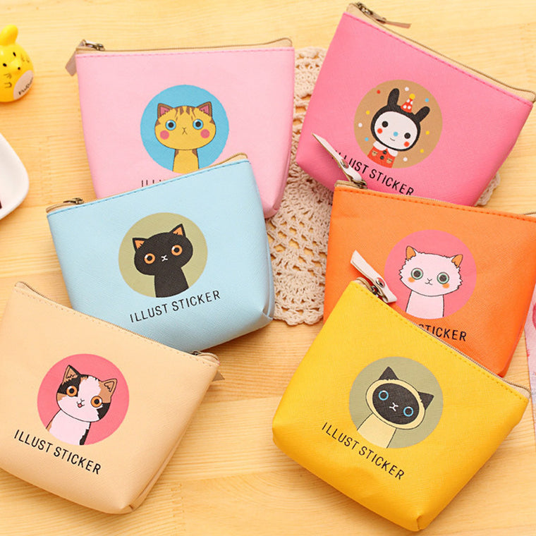 Luggage & Bags Cute Animal Face Zipper Case Coin Purse Female Girl Printing Coins Change Child Purse Makeup Bag Clutch Wallet Phone Zip Key Bag Great Varieties