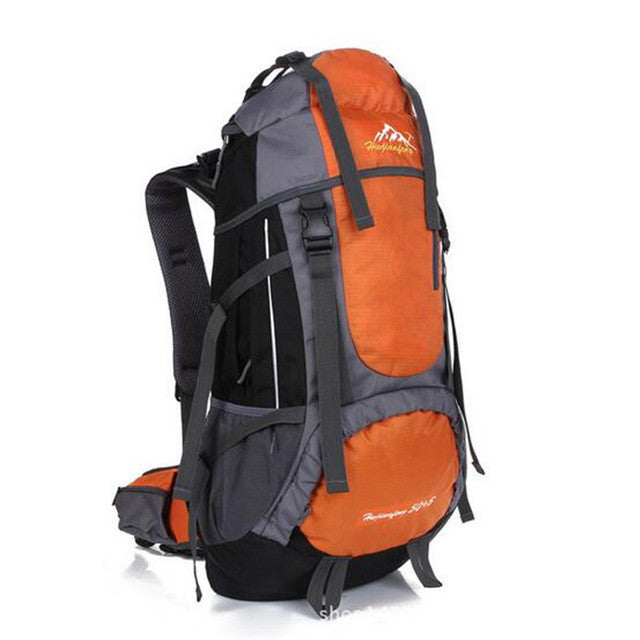 55L Outdoor Sport Climbing Backpack Water Resistant Hiking Bag Camping Travel Pack Mountaineer Sightseeing Hike