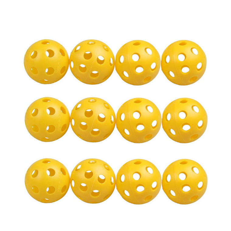 Golf training New 12Pcs Plastic Whiffle Airflow Hollow Golf Practice Training Sports Balls Free Shipping EA14