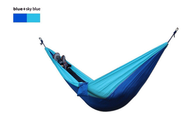 1 pcs free shipping double parachute  hammock outdoor traveling camping 2 person hammock can bear 300 kg