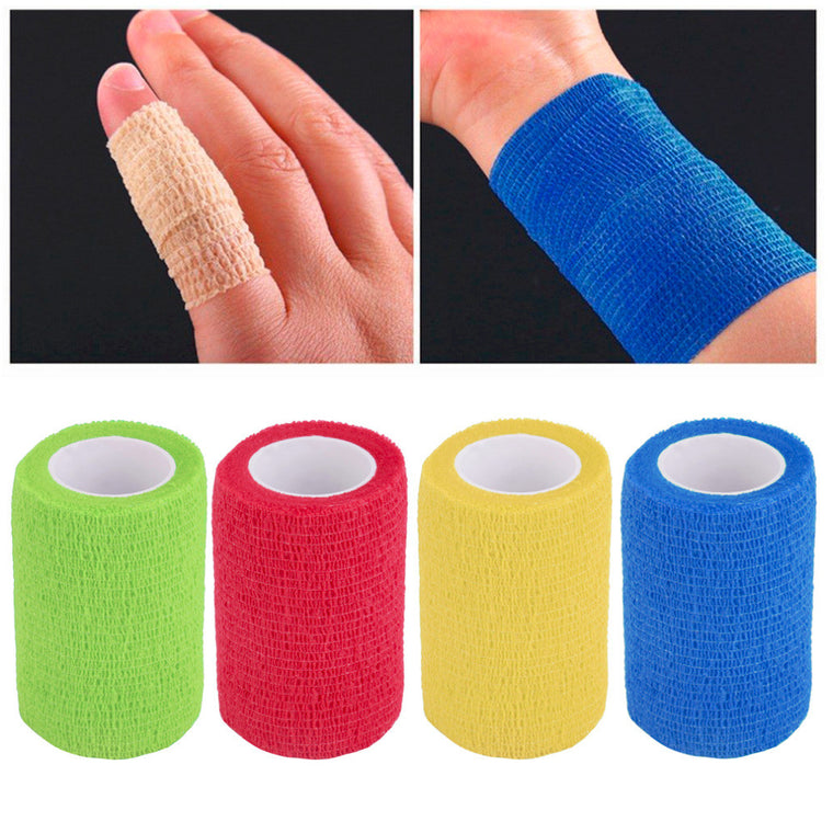 Hot 4.5m x 7.5cm Self-Adhering Bandage Wraps Elastic Adhesive First Aid Tape Waterproof and breathable