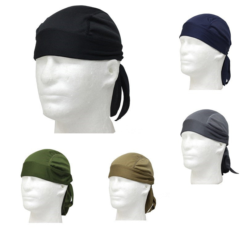 New Cycling Bicycle Polyester Cap Outdoor Sport Breathable Quick Dry Headscarf Riding Durable Bike Bandana Headband 5 Color@