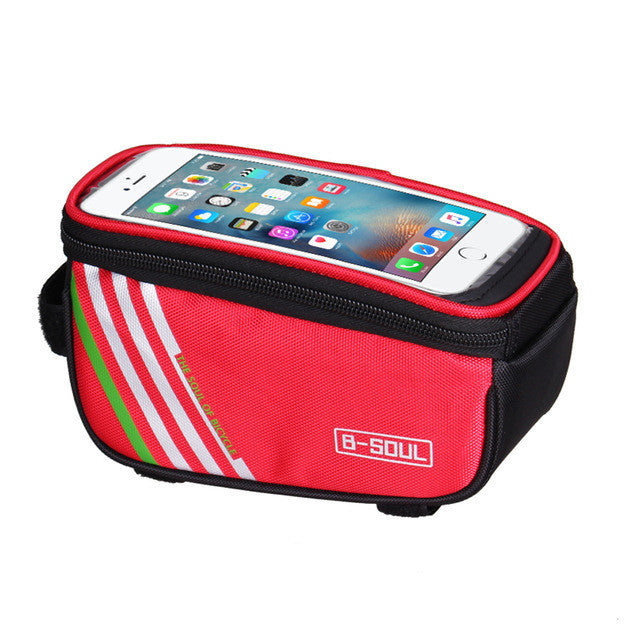 4 Colors Waterproof Touch Screen Bicycle Bike Bag Frame Front Tube Waterproof Mobile Phone Bag for 5.0 inch Mobile Phone