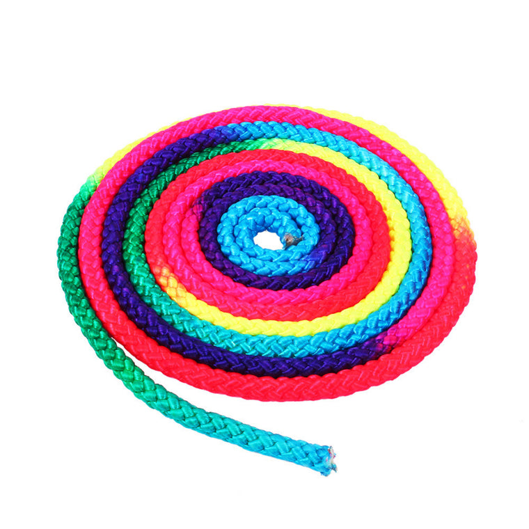 Rainbow Color Rhythmic Gymnastics Rope Solid Competition Arts Training Rope Gymnastics Sports Rope
