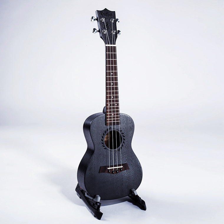 Concert Ukulele 23 Inch Hawaiian Guitar 4 Strings Ukelele Guitarra Mahogany Uke Black Handcraft Wood Mini