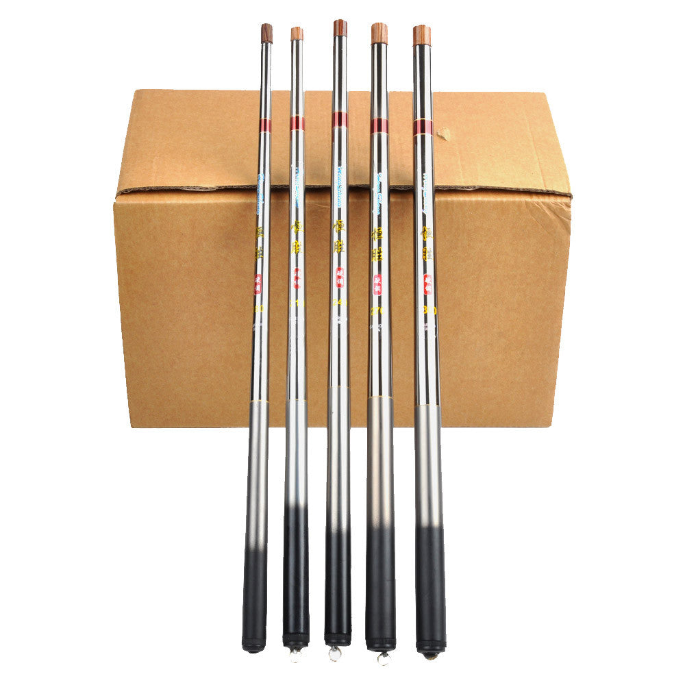 5.4m / 17.72ft Super Hard Carbon Fiber Portable Telescopic Fishing Rod Ultralight Mini Pole Travel Fishing Tackle Fishing Rod
