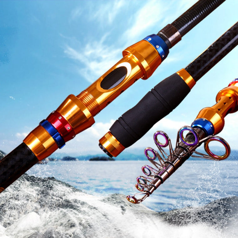 1.8m 2.1M 2.4M 4.7M 3.0M 3.6M Carbon Superhard Spinning Fishing Rod Telescopic Rock Fishing Rod Carp Feeder Rod Lure K8356