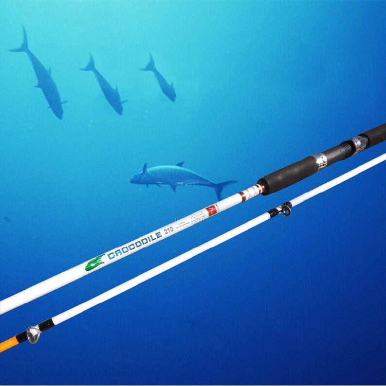 lure rod FRP fishing rod solid cast rod Long shot fishing rods two color options
