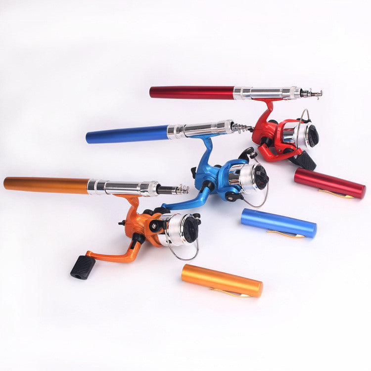 Spinning Mini Fishing Rod Pen Set Lure Rod Folding Fishing Rods Spining Hengel Pesca Vara Telescopica De Carbono With Reel FR61