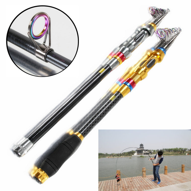 fddfaa2921c 1.8~3.6m Super Hard Fishing Rod Carbon Spinning Feeder Pole Peche Tackle  Sea Carp