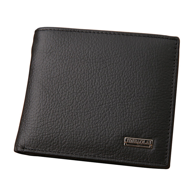Fashion Genuine Leather Men Wallets Business Men Bifold Wallet Purse with Coin Pocket
