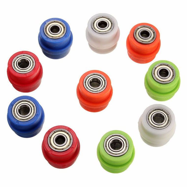 Drive Chain Pulley Roller Slider Tensioner Wheel Guide For Pit Dirt Street MTB Road Bike Bicycle Cycling 8mm 10mm 5color