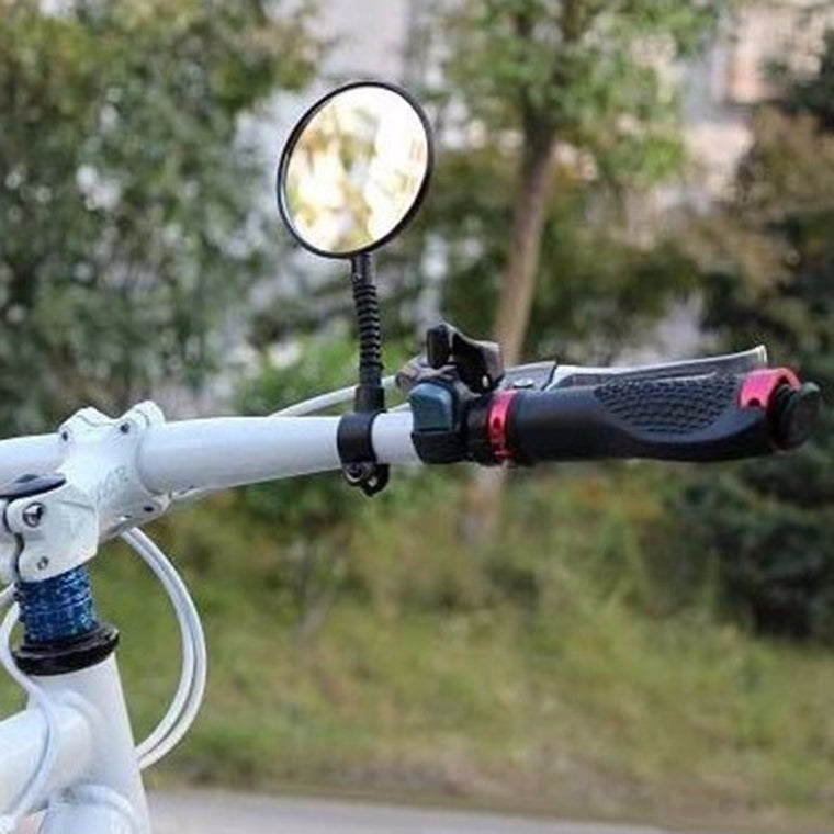 Sales Promotion 1pc Bike Mirrors Bicycle Handlebar Flexible Rear Back View Rearview Mirror Black Free Shipping
