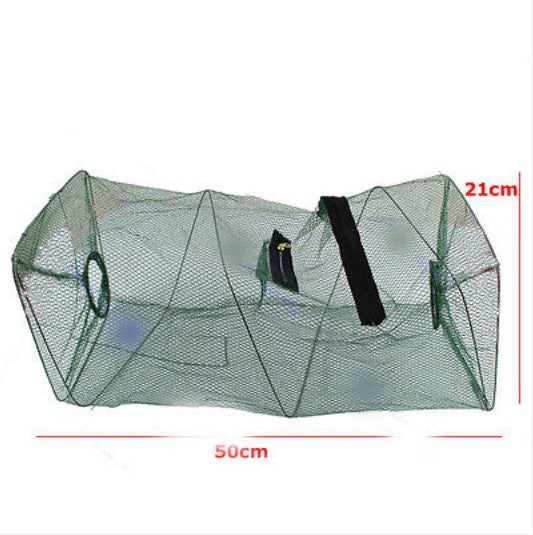 Foldable Crab Fish Crawdad Shrimp Minnow Fishing Bait Trap Cast Dip Net Nylon Net With Circle Alloy Frame Fishing Net