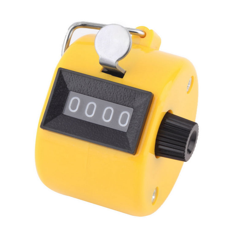 Digital Chrome Hand Tally Clicker/Counter 4 Digit Number Clicker Golf counter Sports counter drop shipping