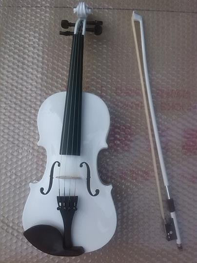 High quality WHITE color violin 1/4 violin handcraft violino Musical Instruments