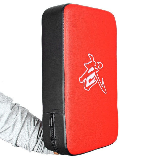 PU Leather Rectangle Strike Punching Kicking Pad Arm Shield Target for Focus Training of Boxing Karate Muay Thai Kick MMA TKD