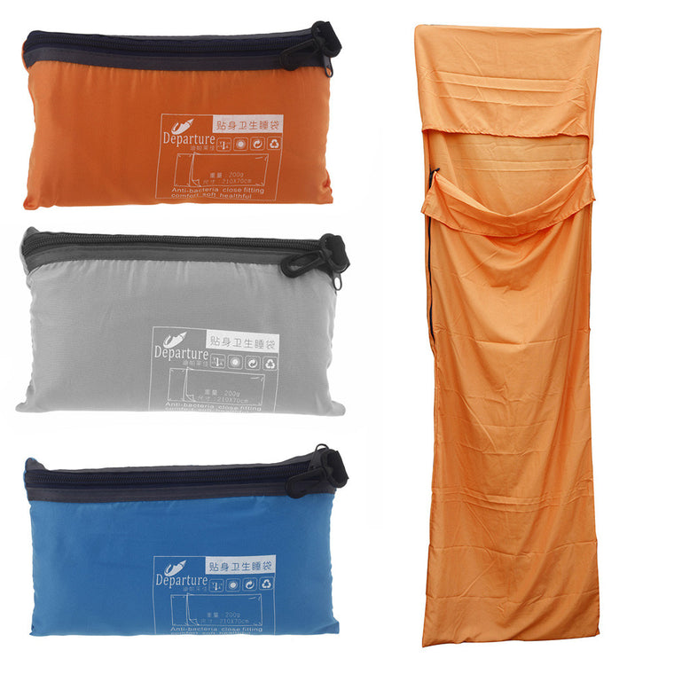 210 * 70cm Ultra-light Portable Single Sleeping Bag Liner Polyester Pongee Healthy Outdoor Camping Travel Blue/Orange/Grey