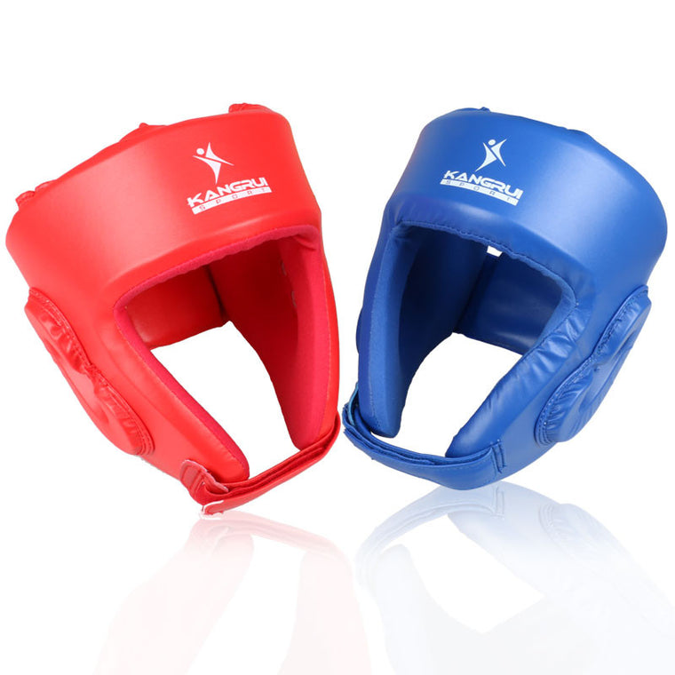 NEWProfessional MMA Helmet kickboxing hear gear blue Red adult men women fighting taekwondo mma muay thai boxing helmet headgear