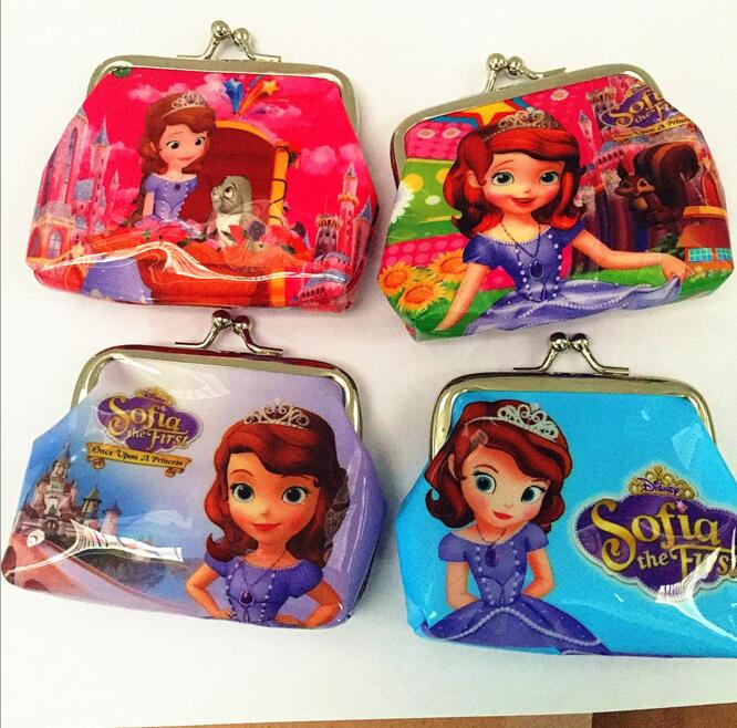 New Sofia/Snow White Princess Coin Purse kids wallet Girls Kids money bag Children Party Gift