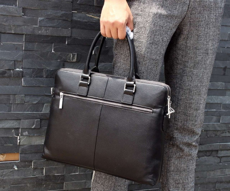 Classic Men Purse Leather Briefcases Designer Handbag Shoulder Bag Free shipping Wholesale Retail