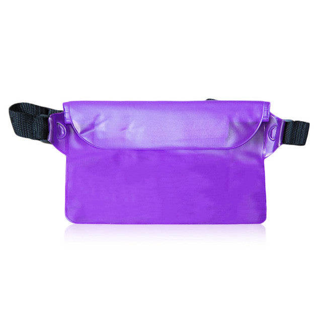 Universal Seal Type Men Women Waterproof Waist Bag Outdoor Swimming bag Beach Use Mobile Phone PVC Pouch Belt Bag New Arrival