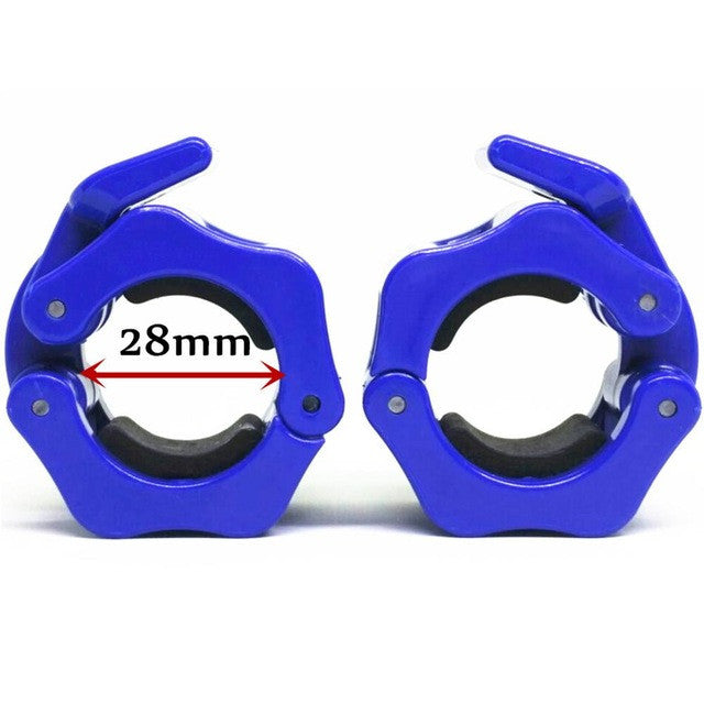 "1 Pair All Size 1"" 2""Olympic Barbell Collars Spinlock Clamps Dumbbell Lock Screw type bar Smooth type Barbell Gym Fitnes Blue"