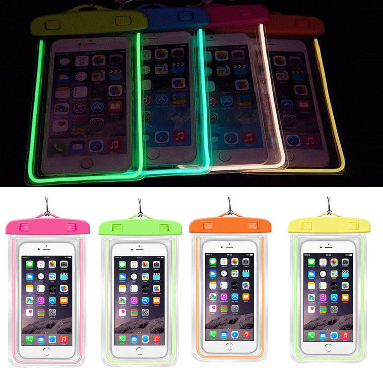 Luminous Glow Waterproof Pouch Bag Pack Dry Case Cover For Your Phone