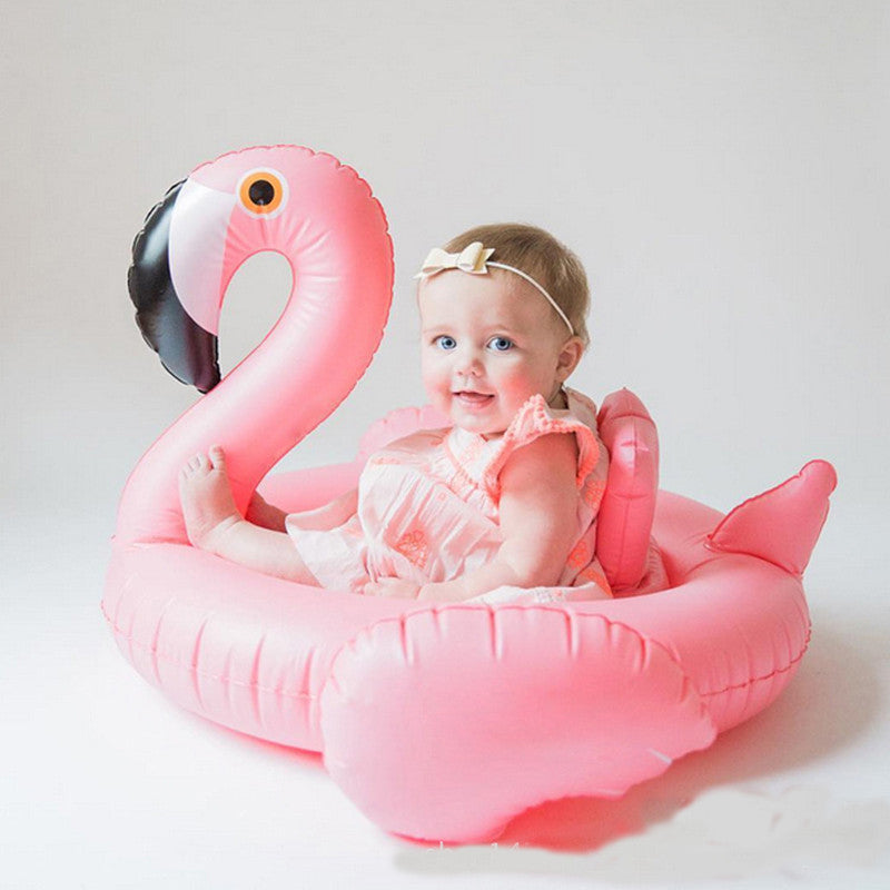 Baby Swimming Ring Dount Seat Inflatable Flamingo Swan Pool Float Baby Summer Water Fun Pool Toy Kids Swimming in the pool