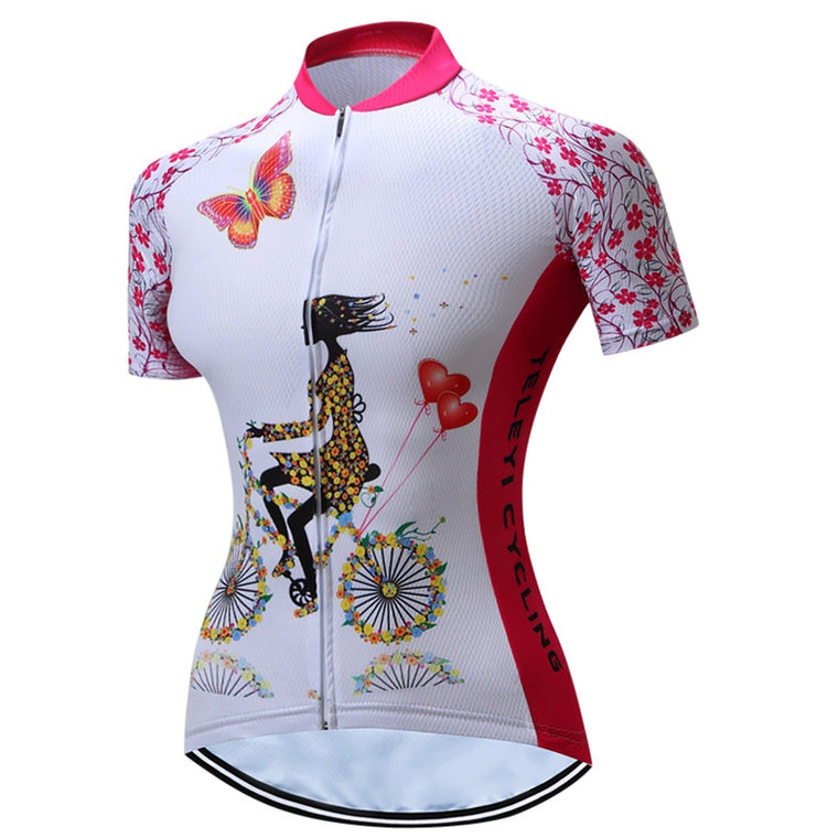TELEYI Women Bicycle Cycling Jersey/Cycling Clothing Top Mtb Maillot Quick-dry Riding Ciclismo Bike Outdoor Sportswear CC6312