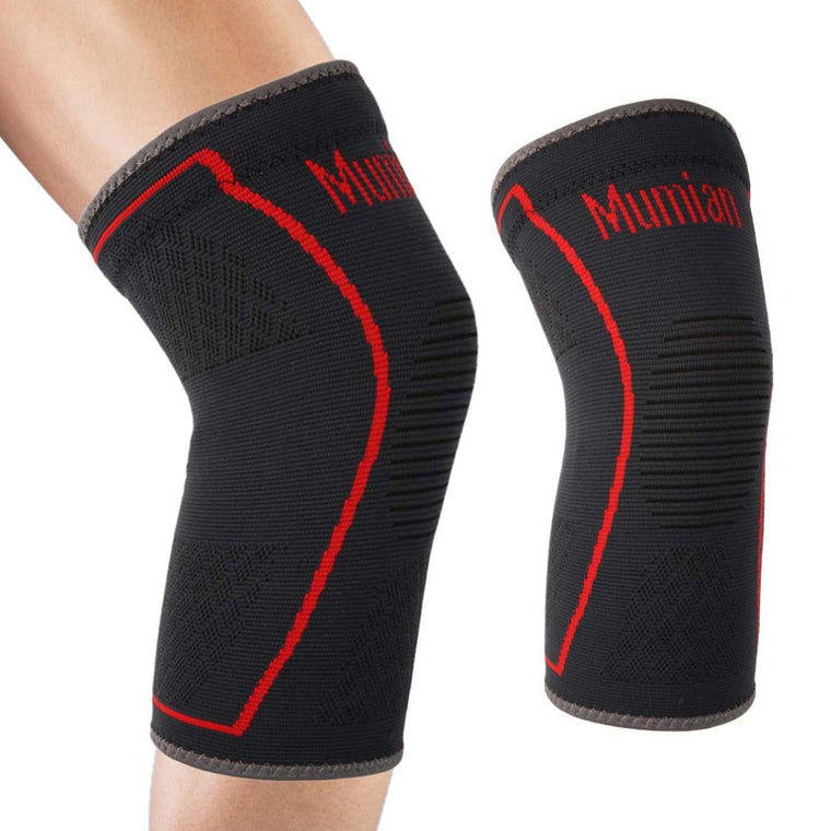 Elastic Sports Leg Knee Support Brace Wrap Protector Leg Compression Safety Pad Sleeve Patella Guard Knee Pad Bandage Hot