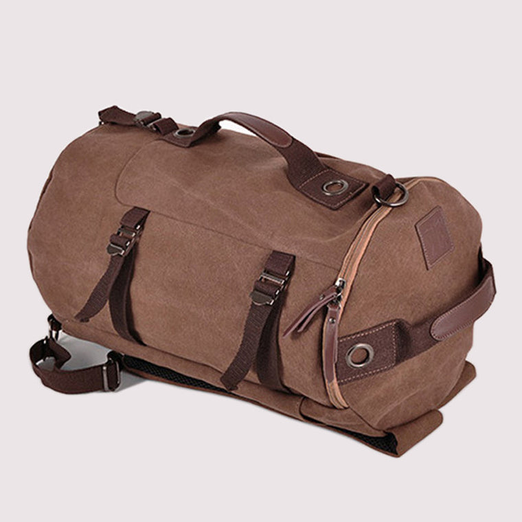 New Fashion Canvas Men Luggage Bag Carry on Luggage Travel Bag  Men Duffel Bag Weekend Overnight Bag  Canvas Travel Backpack