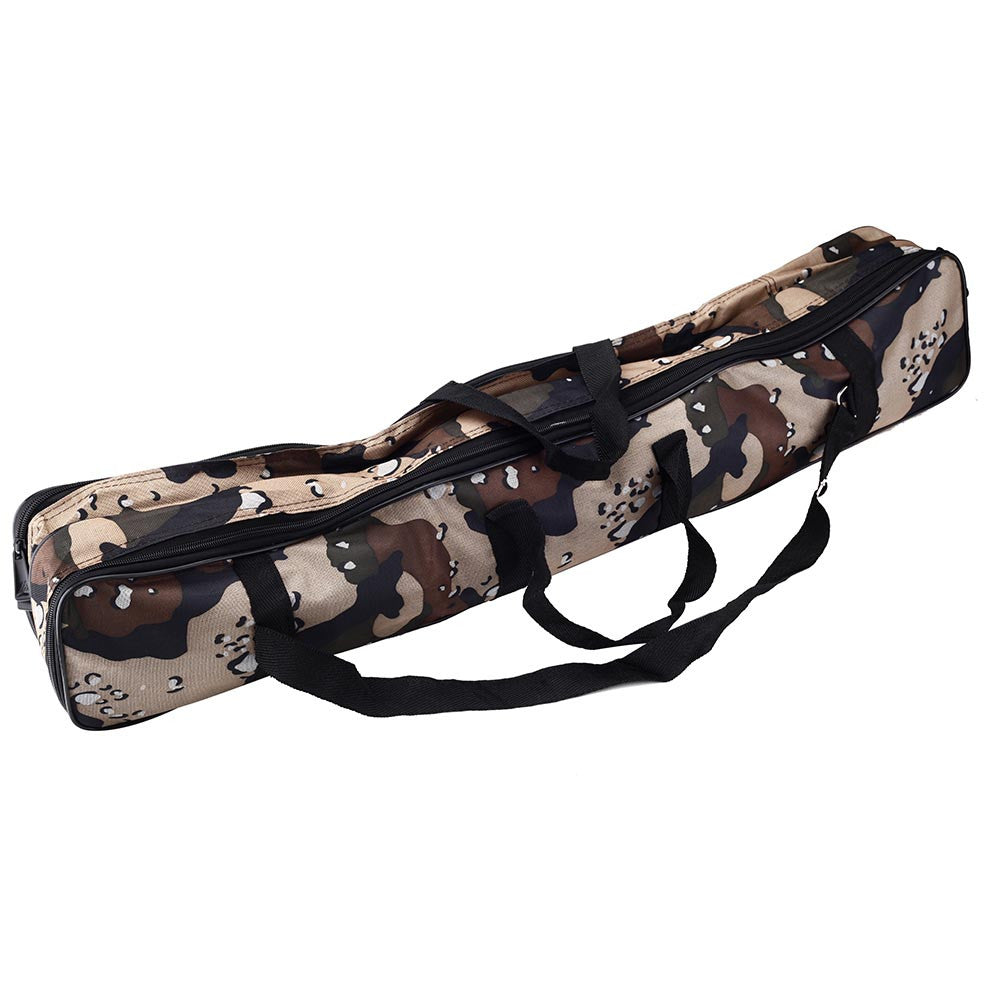 80cm Fishing Rod Bag Multifunctional Camouflage Double Layer Large Capacity Outdoor Fishing Bag  Fishing Tackle Bag