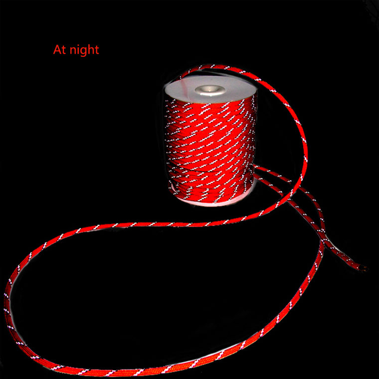 Red Reflective String Windproof Tent Rope Guy Line For Camping Tent Kits Camping Rope Reflective Guy Ropes for Tents