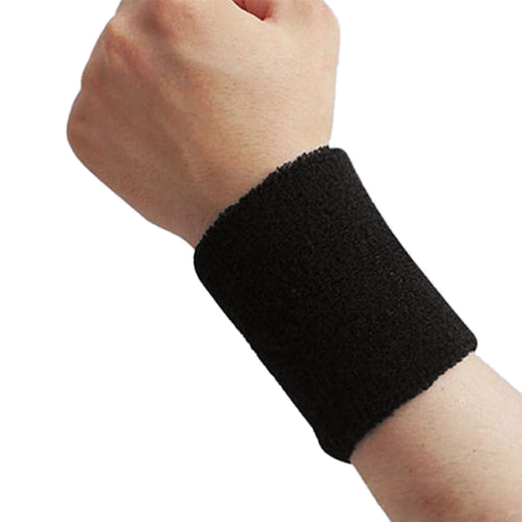 New Men Women Cotton Sweatband Wristband Sport Basketball Wrist Protector Running Cycling Brace Terry Cloth Sweat Bands