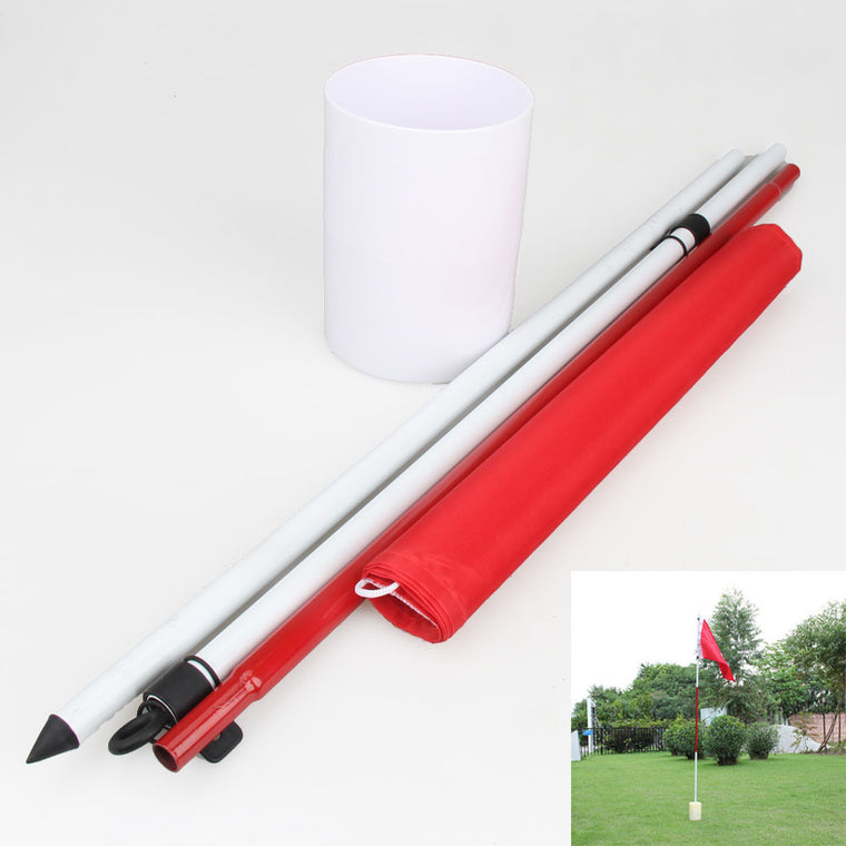 Professional Golf Training Aids Golf Flagstick Backyard Practice Golf Hole Pole Cup Flag Stick Putting Yard Garden Training