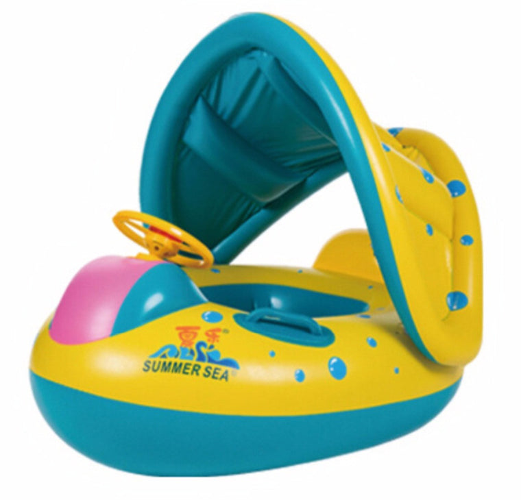 High Quality Safety Baby Infant Swimming Float Inflatable Adjustable Sunshade Seat Boat Ring Swim Pool